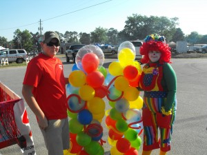 Bright & Squiggly Balloon Columns $80 / Pair