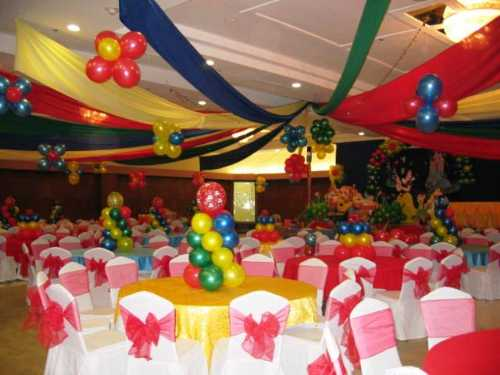 Mini column table toppers 15 sunshines party rentals for Balloon decoration for kids party