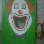 Clown Bean Bag Toss Game Rental $10
