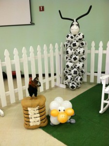 Cow Balloon Column $60