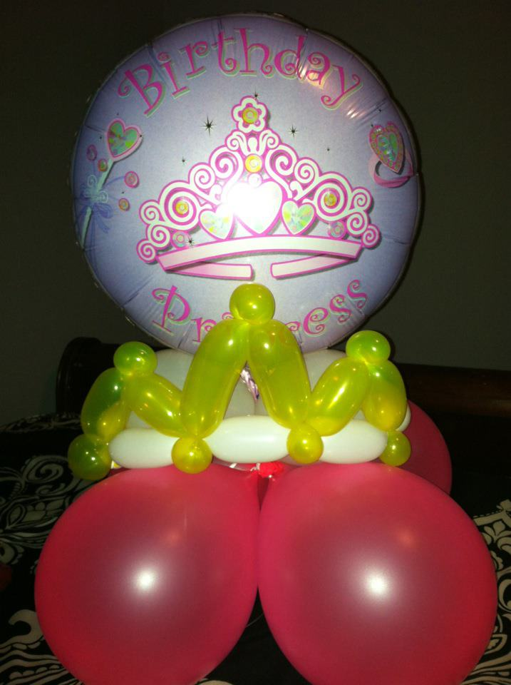 Princess crown centerpiece sunshines party rentals