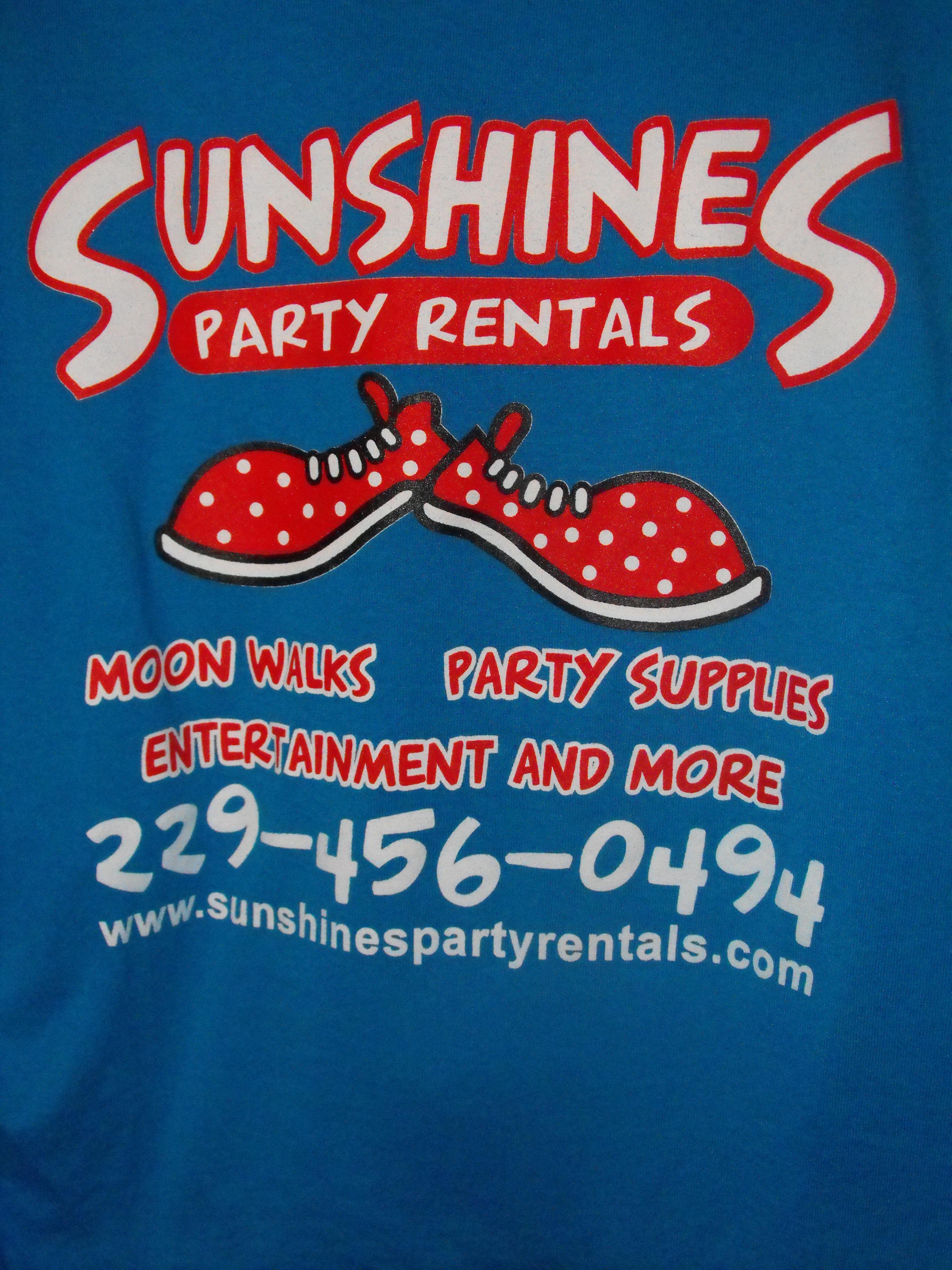 Sunshine T Shirts Sunshines Party Rentals