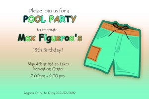 Pool Downloadable Invite $10